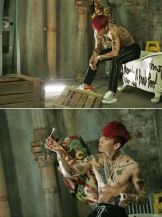 "The M/V behind scenes of RAVI's solo album, ""BOMB""!"
