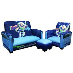 disney pixars toy story 3 toddler sofa chair and ottoman set by delta - Toy Story Toddler Sheets