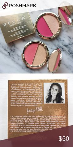 Becca Cosmetics x Jaclyn Hill ( Hyacinth + Pop ) AUTHENTIC Champagne Pop & Hyacinth by Becca Cosmetics x Jaclyn Hill. Brand new in packaging, never used. Champagne Pop, Becca Cosmetics, Face Powder, Mirrored Sunglasses, Packaging, Makeup, Beauty, Fashion, Make Up