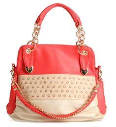 Coral Rhinestone Handbag