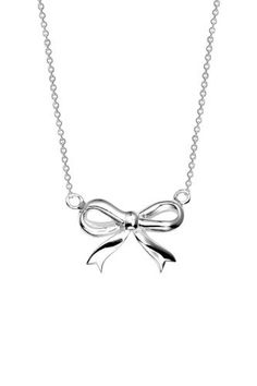 """Sterling Silver Bow Necklace, 18"""" Amazon Curated Collection, http://www.amazon.com/dp/B00462Q7JQ/ref=cm_sw_r_pi_dp_W.BPqb12YP1J9"""
