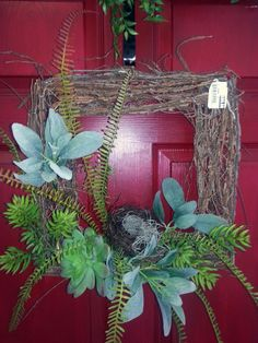 #Spring 2013 custom designed square wreath from Stauffers of Kissel Hill #Garden Centers. Find a location near you at http://www.skh.com/.