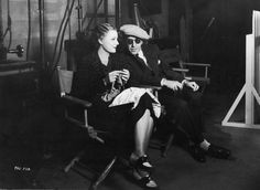 Irene Dunne, 1935, knitting on the set of 'Magnificent Obsession'