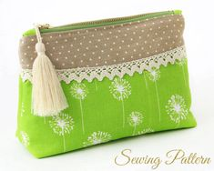 CLUTCH SEWING PATTERN WITH INSTANT DOWNLOAD  This simple cosmetics clutch is elegantly designed with a curved yoke which is perfect for adding your favorite trim. Use it to keep hair accessories, cosmetics, travel essentials, or even your camera neatly organized.  This clutch sewing pattern comes in 5 sizes to fit your individual needs. SIZES ======= ♥VIEW A - W 7 x H 4.8 x D 2.6 inches (17.7x12.4x6.7cm) ♥VIEW B - W 8 x H 5.5 x D 3 inches (20.3x14x7.6cm) ♥VI...