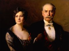 Ambassador and Mrs. Larz Anderson -- Painted at Anderson House, this portrait of the couple surrounds them with icons of their life together, including their collections, awards, and memberships --  By Philip de László, 1926