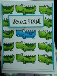 Birthday card using zoo crew paper smooches