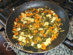 In cucina con Bilibì: Tofu con cicoria e carote