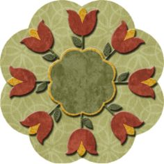 """Christmas Tulip Candle Mat 