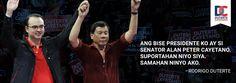 Duterte supports Cayetano