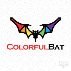 #logo Colorful Bat
