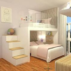 Adorable 43 Affordable Girls Bedroom Design Ideas For Small Rooms To Try Cute Bedroom Ideas, Modern Bedroom Decor, Girl Bedroom Designs, Stylish Bedroom, Awesome Bedrooms, Cool Rooms, Cozy Bedroom, Bed Ideas, Bedroom Kids
