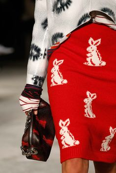 Prada Spring 2016 Menswear #bunny #print