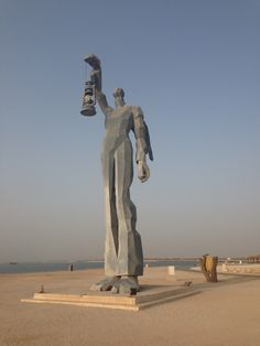 Statue on Kish Island, Iran.