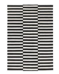 Living Room: this rug from Ikea can look stunning but takes a bit of courage! STOCKHOLM Rug, flatwoven - cm, striped black/off-white from IKEA