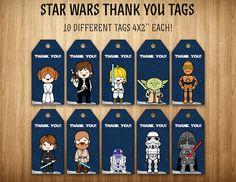 Star Wars gracias etiquetas Favor de la por SuperInstantParty