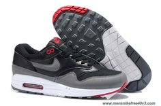 timeless design 924ab 13b16 New Black Cool Grey Anthracite Team Orange Shoes Mens 555766-001 Nike Air  Max 1
