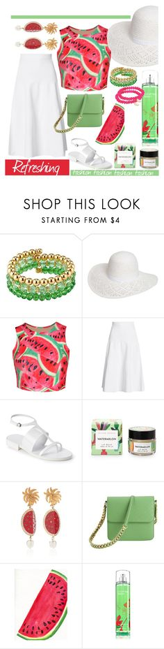 """Refreshing watermelon fashion."" by babett-beattie ❤ liked on Polyvore featuring 1928, Dorothy Perkins, WithChic, Victoria Beckham, Jil Sander, Dolce&Gabbana, STELLA McCARTNEY and Sydney Evan"