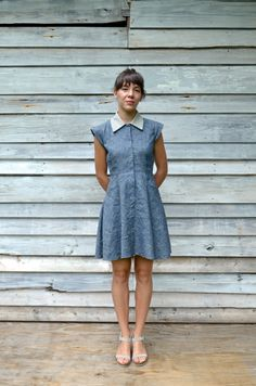 Meeting St Dress // Organic Cotton and Hemp // Made to Order (225.00 USD) by BowandArrowApparel