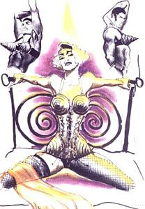 1990 - Jean Paul Gaultier sketch - costume for Madonna's Blond Ambition Tour