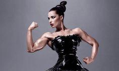 Female figure competitor Jelena Abbou in the MAC ads