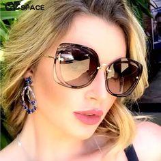 "Universe of goods - Buy ""FEISHINI Celebrity Luxury Classic Eyewear Quality Sunglasses Female Original Brand Designer Pierced Sun Glasses Women Vintage"" for only USD. Luxury Sunglasses, Cheap Sunglasses, Cat Eye Sunglasses, Sunglasses Women, Nice Glasses, Facebook Style, Fashion Eye Glasses, Womens Glasses, Pink Fashion"