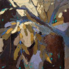 """""""Bosque en Marrón"""" serie Bosques   Pintura de Carolina Veramendi B   Flecha"""