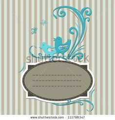 stock-vector-vintage-label-with-turquoise-birds-111798347.jpg (450×470)