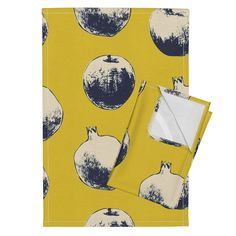 Orpington Tea Towels featuring Apples and pomegranate by scipida   Roostery Home Decor