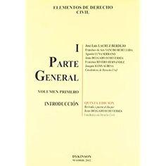 Elementos de Derecho Civil. I, Parte general. Volumen Primero, Introducción