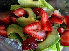 Three-ingredient avocado salads