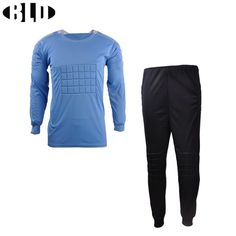 BLD Football Goalkeeper Soccer Uniforms Set Breathable Dry Fit Jersey and Pants with Sponge Mats Protection Football Jerseys #Affiliate