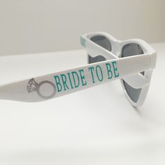 DIY bride to be sunglasses for a bachelorette weekend using your Cricut!