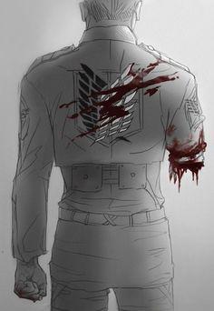 Commander Erwin Smith, Shingeki no Kyojin Attack on Titan - Anime Mikasa, Armin, Attack On Titan Episodes, Attack On Titan Fanart, Erwin Attack On Titan, Anime Tumblr, Fan Art Anime, Levi And Erwin, Maou Sama