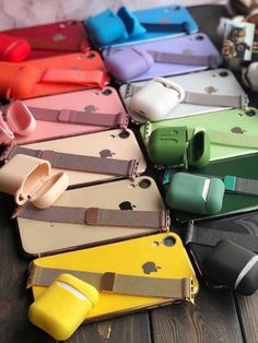 Which is Your Favorite color ? All colors of watch bands and AirPods cases and Iphone cases. Photo from Iphone 7 S, Iphone Phone Cases, Apple Iphone, Apple Watch Accessories, Iphone Accessories, Samsung Galaxy Phones, Accessoires Iphone, Cool Gadgets To Buy, Ipad