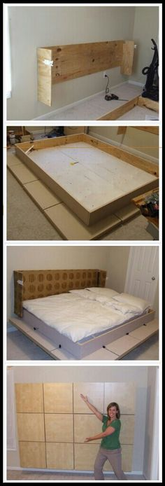 Moddi bed - $8 plans to build your own murphy bed for about $200.                                                                                                                                                      More