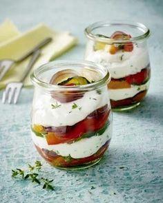 Gegrilltes Gemüse mit Ziegenkäse aus dem Glas Rezept