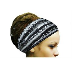 Check out this item in my Etsy shop https://www.etsy.com/listing/511732557/dreadlock-accessories-black-white-gray
