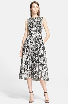 Lela Rose Ikat Fil Coupé Fit & Flare Midi Dress available at #Nordstrom