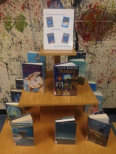 """I don't remember the title, or the author, but the cover was blue!"" Young Adult Display (2014)."