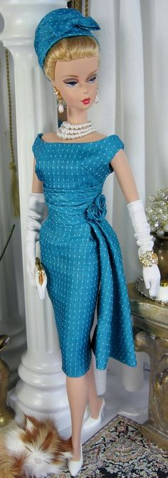 Vintage Teal for Silkstone Barbie and similar size dolls on Etsy now | Matisse Fashions