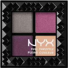 Nyx Cosmetics Full Throttle Shadow Palette (131.375 IDR) ❤ liked on Polyvore featuring beauty products, makeup, eye makeup, eyeshadow, nyx, nyx eye shadow, palette eyeshadow and nyx eyeshadow