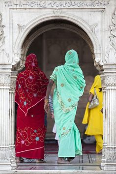 lovely saris in Delhi, India. Photo by Julian Love.