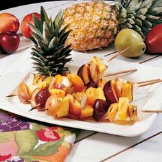 Grilled Fruit Kabobs Recipe   Taste of Home Recipes