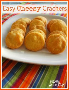 Cheese Cracker Recipe: Just a few ingredients make these yummy cheesy crackers which your kids will like better than store bought. #crackers #recipe
