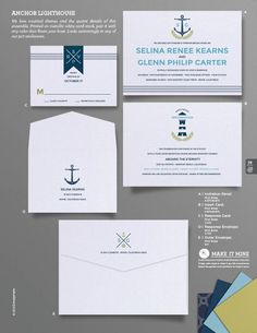 """Anchor Lighthouse"" Wedding Invitation From Envelopments"
