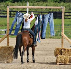 about the only way you'll get a Horse Woman to do Housework is to include a Horse. Clydesdale, Trail Riding, Horse Riding, Ranch Riding, Horse Arena, Horse Exercises, Horse Games, Horse Training Tips, Horse Pattern