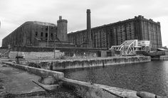 Liverpool's North Docks Liverpool Waterfront, Liverpool Docks, Liverpool History, Landscapes, Louvre, Industrial, Train, River, City
