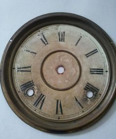 Antique Ingraham Clock Gingerbread Parts Repair Dial Pan Brass Bezel Hands | #1822656860