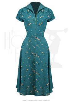 1940s Style Peggy Sue Dress in Spring Garden Print
