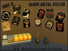 Heavy Metal Poster-Set by Bildlichgesehen at Akisima • Sims 4 Updates